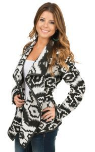Outback Trading Compnay Women's Black & White Aztec Jacket | Cavender's