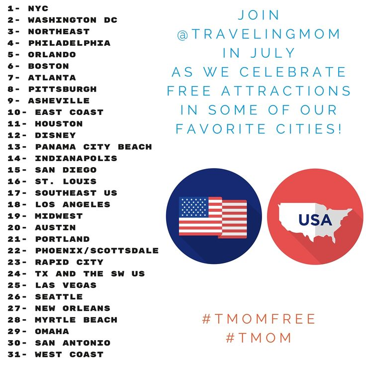 Join the @TravelingMom Instagram party! Add #TMOMFree hashtag to your photos of these cities in July for a chance to win a Ricardo suitcase!