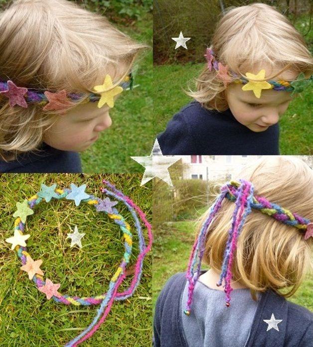 Haarbänder - Zauberhafte Regenbogen Sternen-Krone - ein Designerstück von Mei-Lynn bei DaWanda