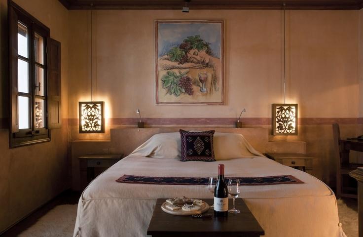 Wine inspired room at Katogi Averoff Hotel