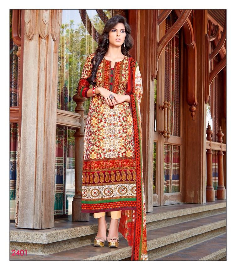 Buy indian western-2 salwar kameez online shopping,Top :- Pure Lawn,Bottom :- Cemric,Dupatta :- Digital Pure,Work :- Printed,Typ :- Semi Stitched.