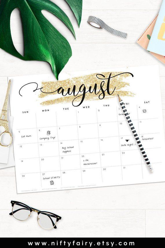 2019 Desk Calendar Monthly Planner 2018 2019 A3 Desk Planner
