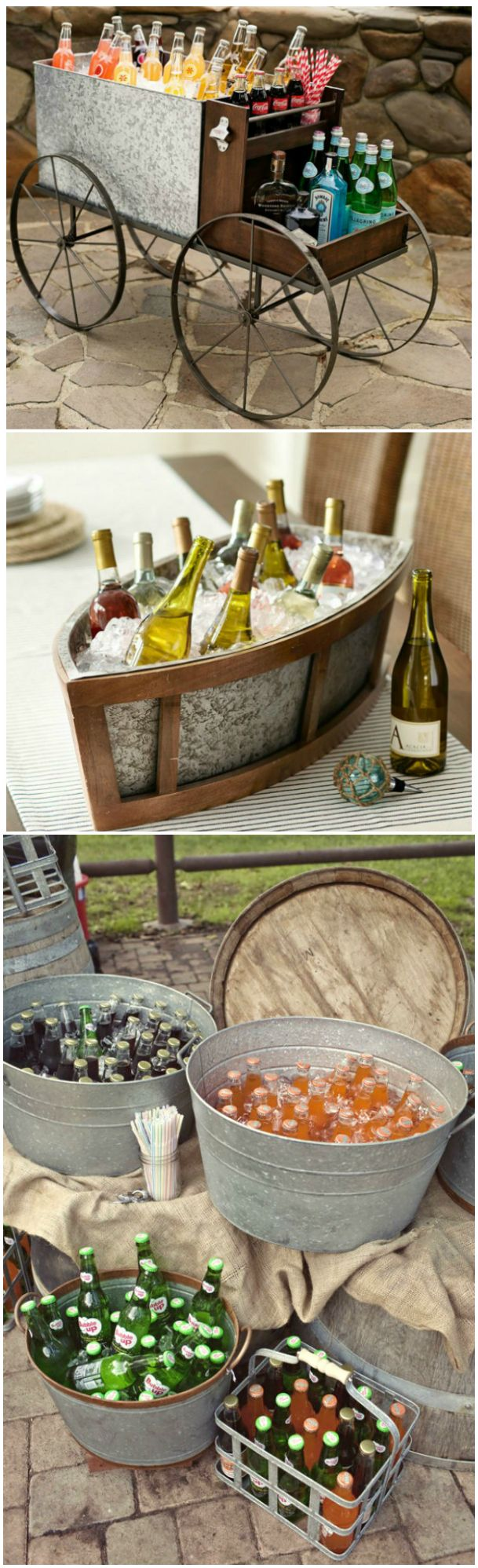 Beverage Serving Ideas ● Items from Pottery Barn. I like these ideas, I say - use whatever you have to use regardless of looks, and serve offering the best: Hospitality ... giving of yourself. A silver tray and a sour smile is not best. Annie Annette Peterson