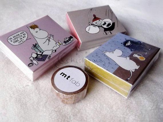 Moomin Mini Gift Box - Little My / Floren / Moomin on Etsy, $2.19