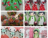 Small Girl Button Pack.  40 Buttons.