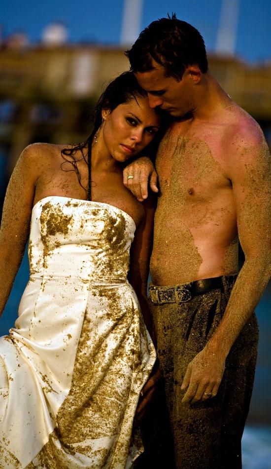 couple... trash the dress...