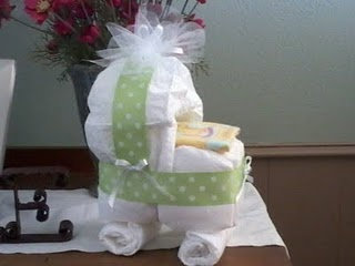 Diaper Craft Bassinet For Baby Shower