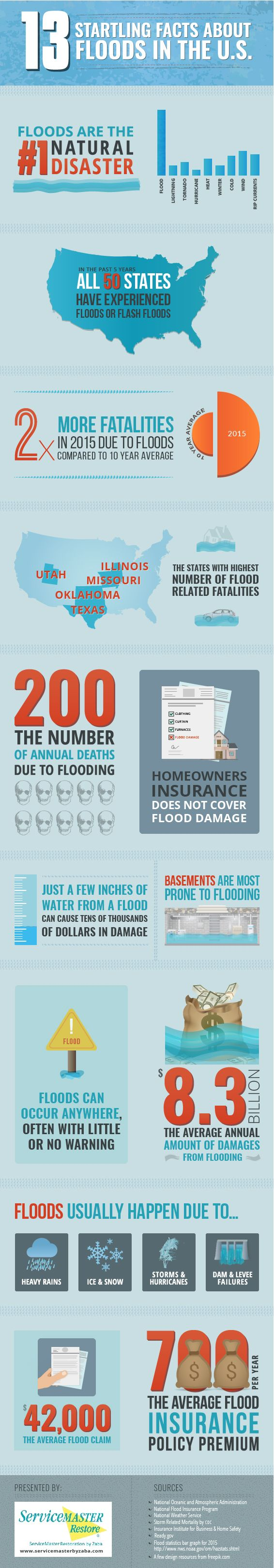 13 Startling Facts About Floods in the U.S.  View More @ http://www.liveinfographic.com/  #13 Startling Facts About Floods in the U.S. Best Infographics brightvalley Free Infographics Infographic infographics  #infographic  #infographics #pintrestinfographics  #pintrest #pintrestpins