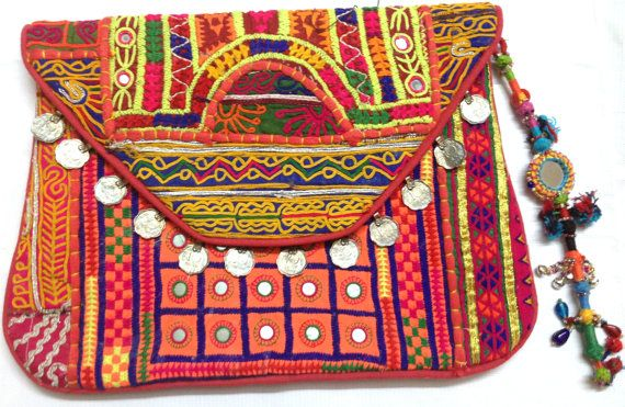 Beautiful Vintage Banjara clutch bag ethnic gypsy tribal bohemian multi patchwork embroidery on Etsy, US$79.00
