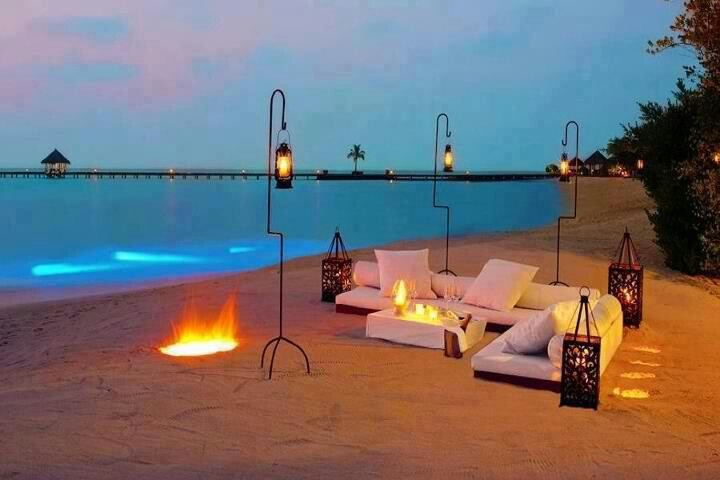 "This is what ""life is what we're given' style is how we live it"" means.Beach Bonfires, Resorts, Beach Parties, Honeymoons, Places, Maldives, Beach Room, Hotels, Spa"