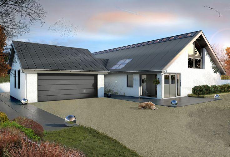 New build, bespoke, low energy, rural house designed by Jonathan Braddick Chartered Architects Devon http://www.jonathanbraddick.co.uk 3D Visuals by Archilime Ltd