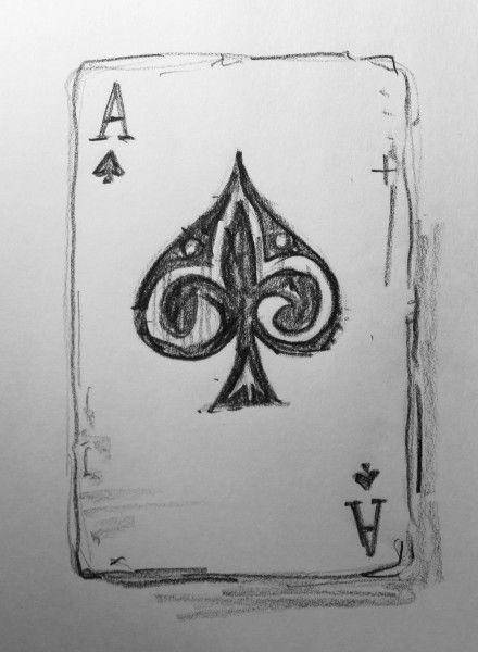 1,000 things to draw #4: Ace of spades                                                                                                                                                      More