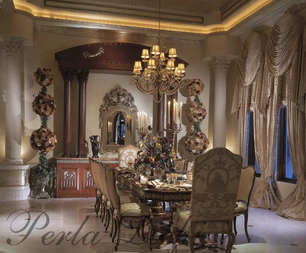 93 best formal dining room images on pinterest dinner for Tuscan dining room ideas