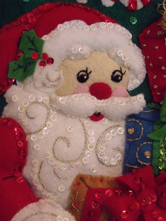 HO HO HO Santa 18 pulgadas media de Navidad personalizado