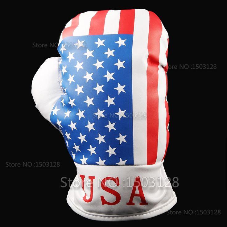 Personalità OEM Driver Sacca Da Golf 460cc 440cc Pelle Sintetica USA Bandiera Stelle e Strisce Guantoni da boxe Capo covers