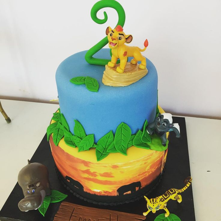 Lion Guard inspired 2nd birthday cake.