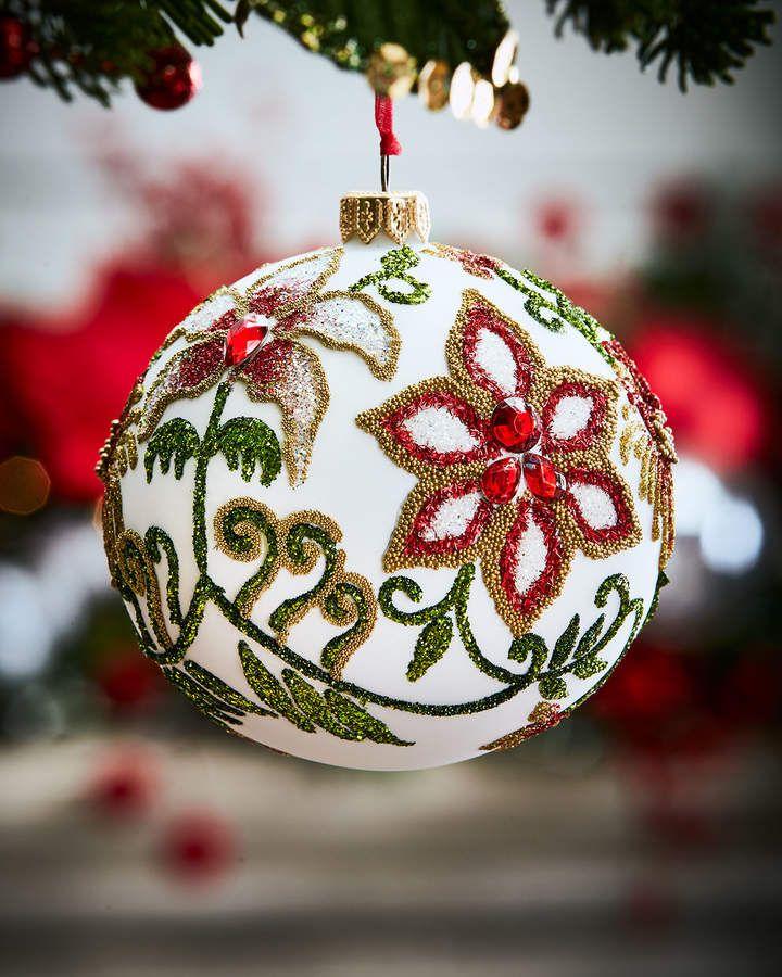 Dillards Trimmings Glitter Sequin Beaded Christmas Ornaments Leopard Cheetah