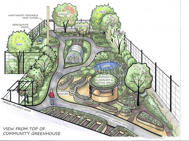 Permaculture Food Forest Design Visualization Of Groundswell Permaculture Food Forest And Community Food Forest Design Forest Design Permaculture Gardening