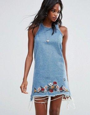 Джинсовое платье | Джинсовые платья и платья-рубашки | ASOS