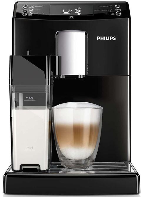 Philips EP3550/00  Philips EP3550/00: Volautomatische espressomachine Voor wie wil genieten van een heerlijke espresso cappuccino of latte macchiato is de Philips EP3550/00 een must in de keuken. De koffiespecialiteiten die deze espressomachine maakt zijn zeer eenvoudig aan te passen naar jouw smaak via het display en het apparaat onthoudt jouw persoonlijke voorkeuren. Dankzij het automatische reinigingsprogramma heb je weinig onderhoud aan de Philips EP3550/00. De machine beschikt over een…