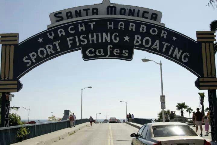 USA, Los Angeles California,  la Baia di Santa Monica