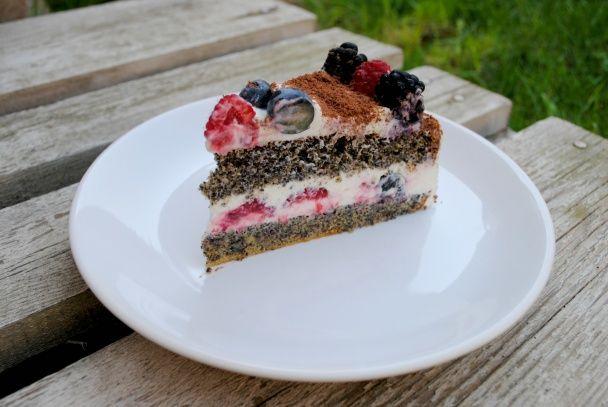 Maková torta s tvarohovým krémom - obrázok 4