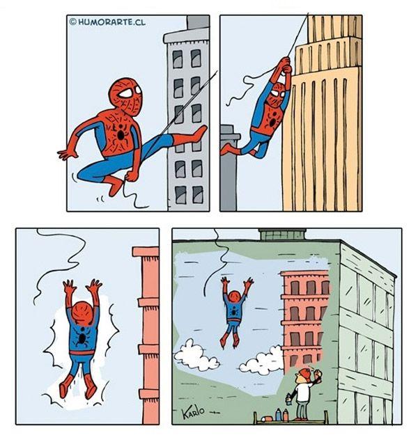 El golpe de Spiderman.