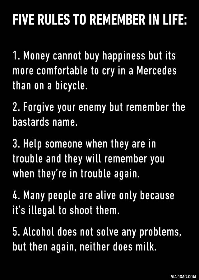 6. Don't be too kind, bad man always win - 9GAG