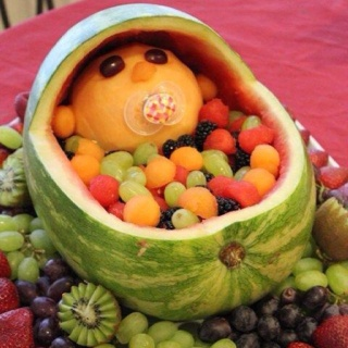 How cute is this....great for a baby shower from Sharon Moores Facebook: Cute Baby, Recipe, Fruit Bowls, Fruit Salads, Baby Shower Ideas, Shower Food, Cute Ideas, Baby Fruit, Baby Shower