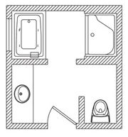 31 Best Bathroom Floor Plans Images On Pinterest