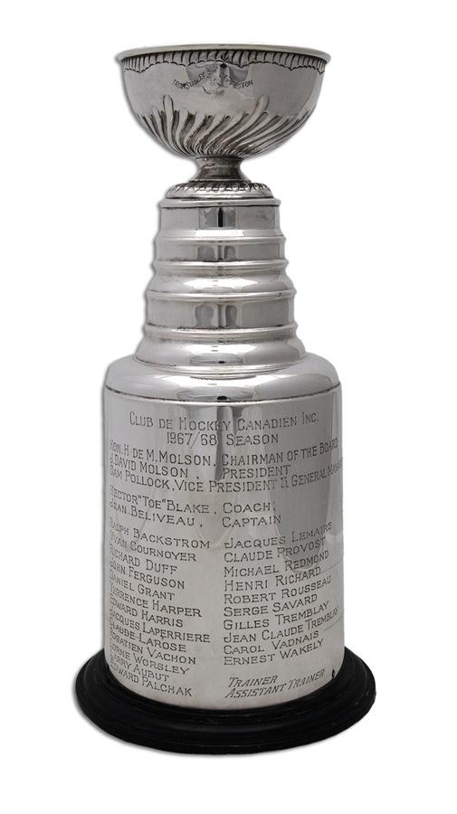 1967-68 HENRI RICHARD MONTREAL CANADIENS STANLEY CUP TROPHY.