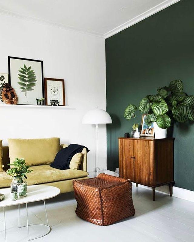 ▷ 1001+ frische Ideen für Wandfarbe in Grün - Farbtrend 2017 Room - wohnzimmer design grun