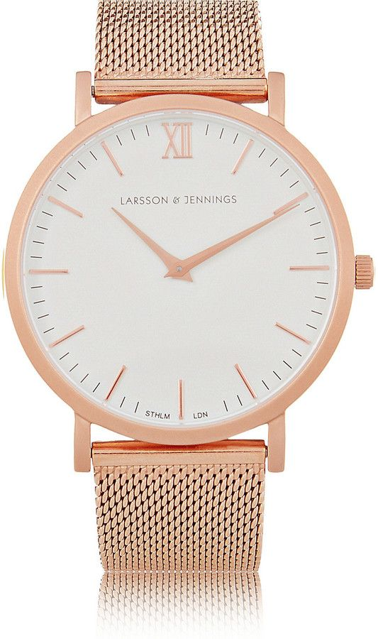 This Larsson & Jennings rose gold watch has the mesh strap that stands out! Get the look on ShopStyle
