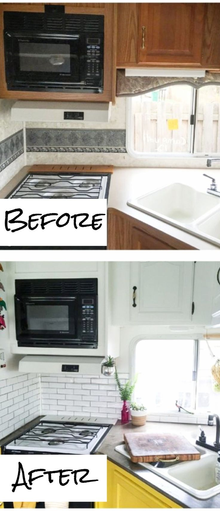 Small RV kitchen makeovers before and after - small kitchens remodel ideas and pictures