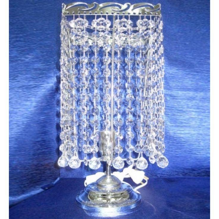Настольная лампа Престиж - Шар 20 с прозрачными хрустальными подвесками. Цвет фурнитуры на выбор - золото или серебро. Оборудована выключателем на проводе. Она будет идеальным украшением вашей спальни.