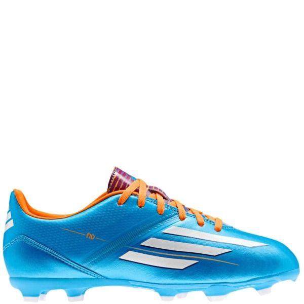 adidas F10 TRX FG J - Samba Pack - Solar Blue/Running White/Solar Zest Youth Soccer Shoes - model D67202
