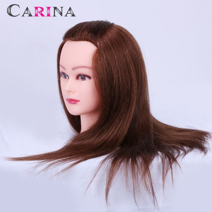 Free Shipping!! 100% Human Hair Mannequin Head With Hair Mannequins For Hair Styling Salon Hot Sale