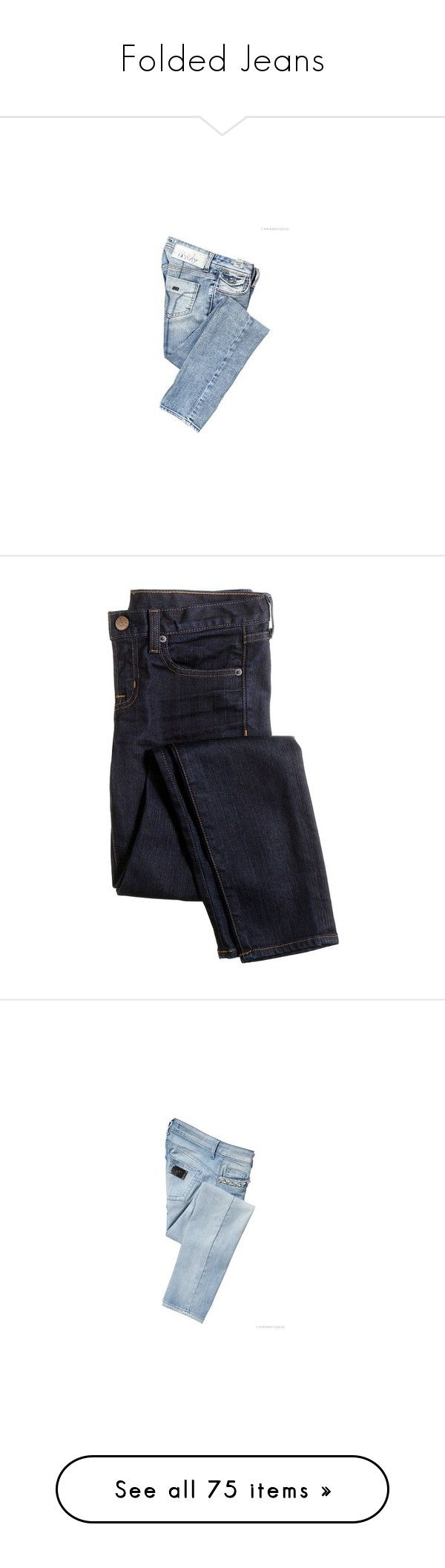 """""""Folded Jeans"""" by yexyka ❤ liked on Polyvore featuring jeans, men's fashion, men's clothing, men's jeans, pants, bottoms, denim, mens destroyed jeans, gold mens jeans and mens blue jeans"""