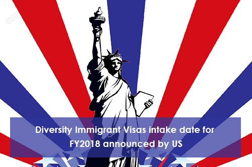 Diversity Immigrant Visa Intake Date For FY2018 Announced By US