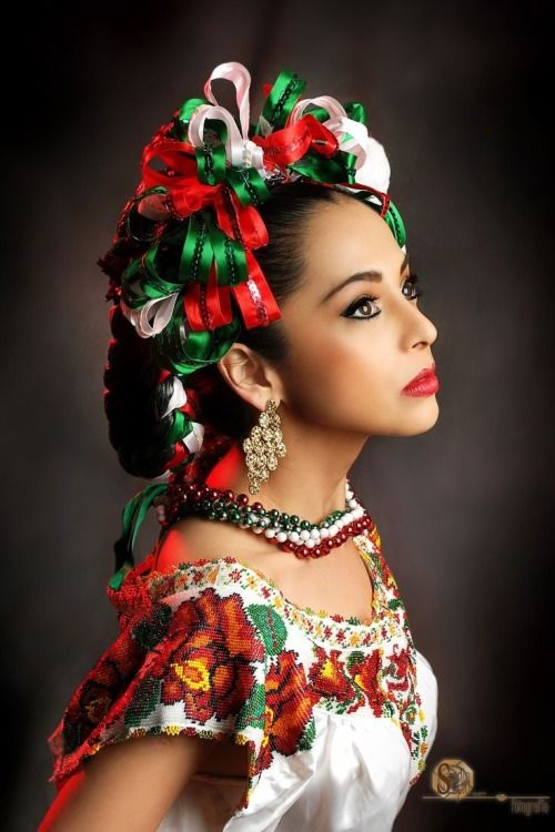 Mexican beautiful woman photo.
