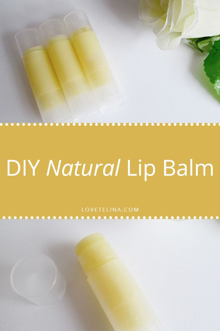 DIY Natural Lip Balm Tutorial | Love, Telina