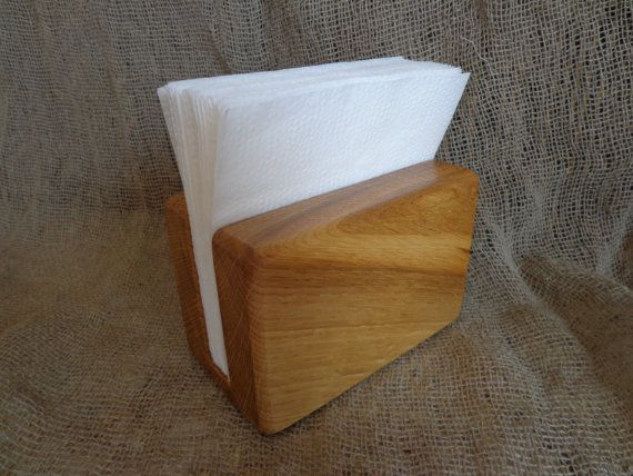 Wooden Napkin Holder, Rustic Paper Napkin Holder, Desk Napkin Holder, Picnic Holder, Kitchen Decor