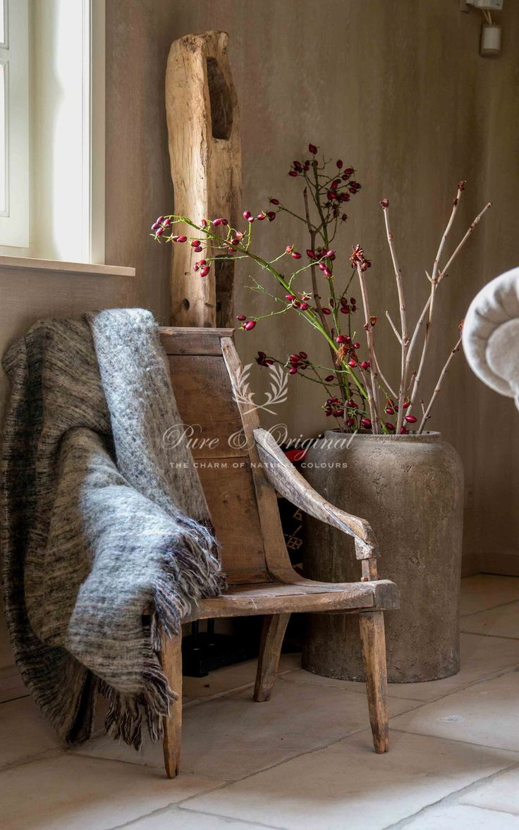 Lovely old chair and lovely fresco lime paint from Pure & Original on the…