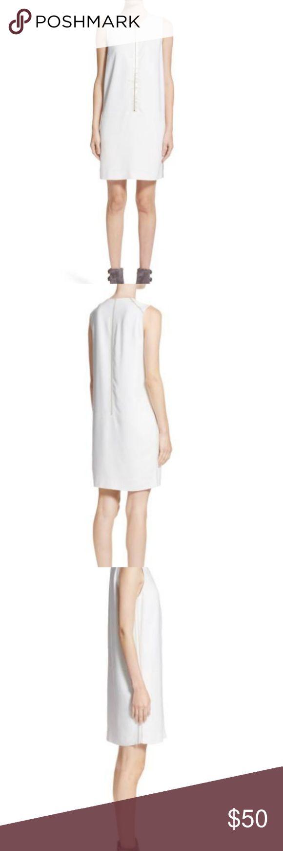Rag And Bone Gabriela White Sleeveless Zip Dress