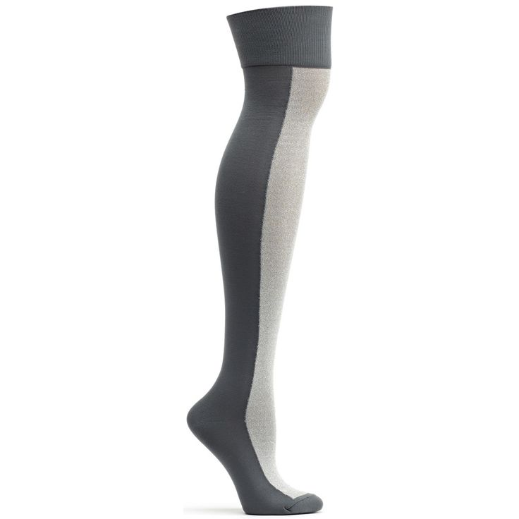 Lurex Racer Over the Knee Sock in Charcoal 9-11 womens from ozone socks