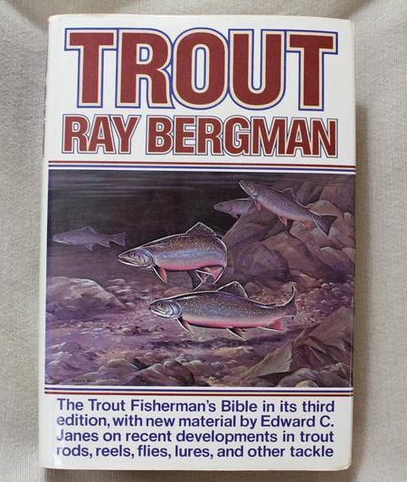 Vintage Fly Fishing Book Trout Ray Bergman 1976 3rd Edition Collectible Tying Flies by AtticEsoterica on Etsy