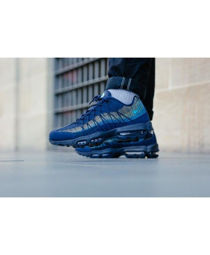 new product 8986c 38999 Nike Air Max 95 Ultra Jacquard Obsidian / Lt Blue Fury ...