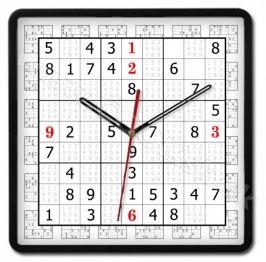 Nástenné hodiny SUDOKU  http://www.coolish.sk/sk/originalne-darceky/nastenne-hodiny-sudoku