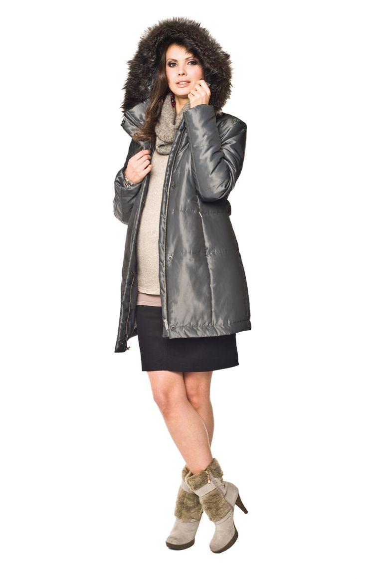 Tehotenské oblečenie Torelle | Tehotenské svetre,bundy | Tehotenská bunda Risa Coat olive | Elegantné tehotenské oblečenie, tehotenské podprsenky, tehotenské rifle a nohavice