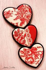Resultado de imagen de galletas san valentin decoradas